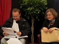Herr Dr. Olaf Mertsch, Consultant und Petra Wodzicki, BWSA-Netzwerkmanagerin auf der Pressekonferenz (Rockharzfestival 2012)